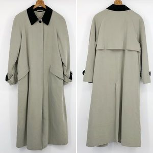 Anne Klein Vintage Trench Coat Wool Lined Tan 10